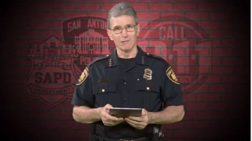 San Antonio police chief reads funny 911 calls in PSA video
